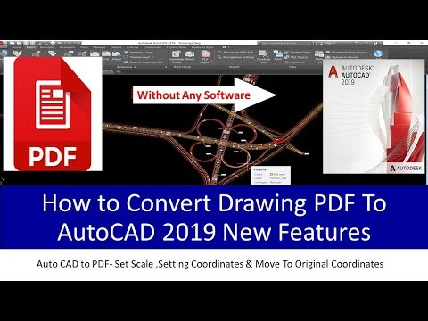 PDF To Auto Cad Convert Drawings & Set Scale With Original Coordinates. Urdu \Hindi