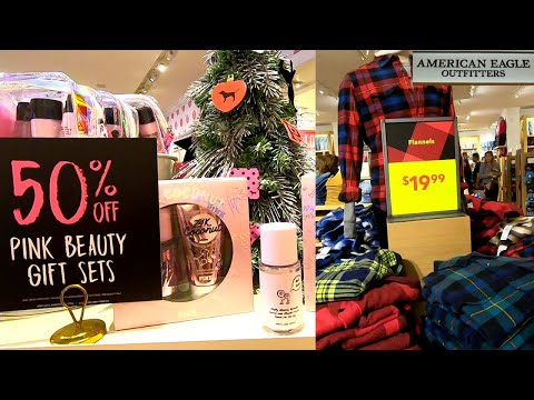 AMERICAN EAGLE OUTFITTERS, AERIE & PINK  STORE Walkthrough SHOP WITH ME 2019