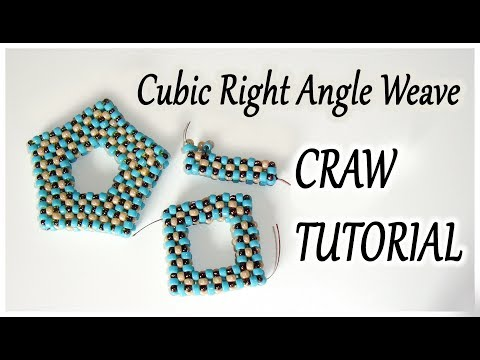 CRAW bead tutorial  - Cubic Right Angle Weave tutorial - CRAW open shape tutorial with beads