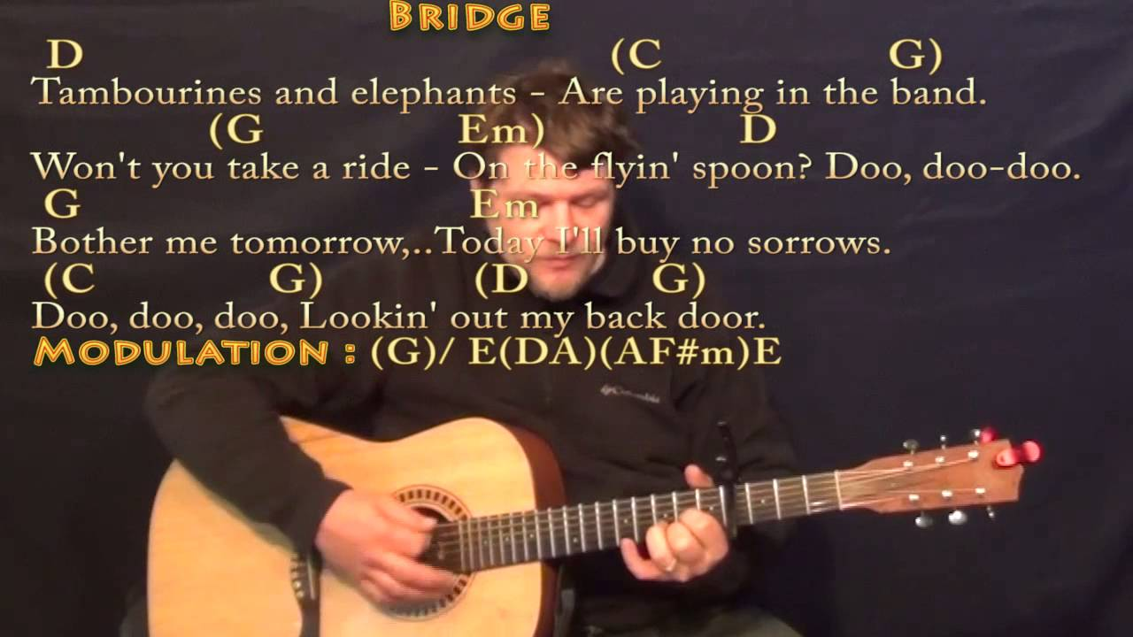 Lookin\' Out My Back Door (CCR) Strum Guitar Cover Lesson with ...