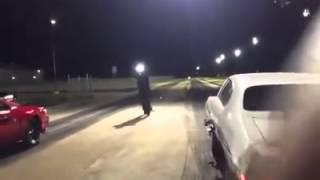 """Street outlaws"" Big chief vs chucky (crash)"