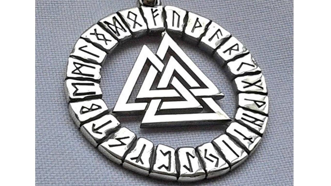 Валькнут Знак 🎅 Одина Асгард Мидгард Хельхейм Германо-скандинавский языческий символ CorelDraw ⚽