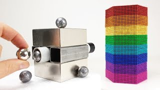 Magnetic Cannon VS Rainbow Tower out of Magnetic Balls | Magnetic Games