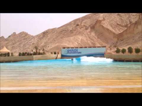 Wadi adventure al ain dubai wave pool piscina de ondas - Piscina onda ...