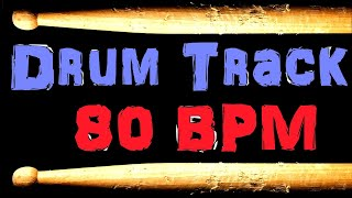 Drum Beat 80 BPM Slow Groove Funk Bass Guitar Backing Drum Track Free MP3 Download #47