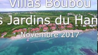 La nouvelle plage devant les villas de luxe en Guadeloupe
