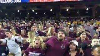 Aggie War Hymn 2015 First Game Against Arizone State