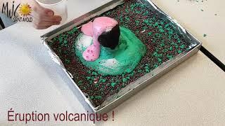 Les Tutos d'Huguette : fabrication d'un volcan et éruption volcanique !