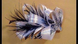 Заколки из лент  МК / Проклеенная лента / Hairpins made of satin ribbons DIY