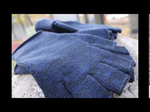 Митенки шерстяные мужские Перчатки без пальцев