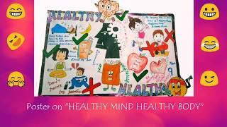 There are many posters shown in this video for the topic healthy mind body... which will help you participating competitions.... so please do ...