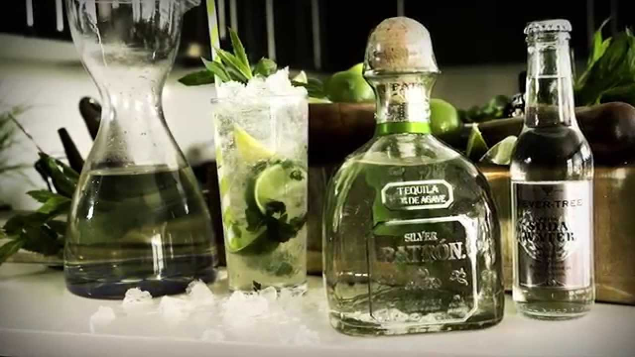 Patron tequila how to mix mojito drinks network youtube for Good tequila mixed drinks