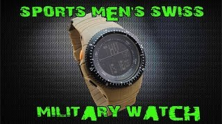 Вскрытие посылки с Aliexpress (Military Army Strap Sports Men's Swiss Military Watch)(, 2014-01-27T17:35:17.000Z)