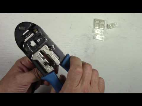 How To Install/Replace An RJ45 Connector On A CAT5/CAT5E Eth