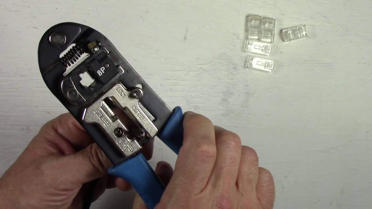 How To Install Replace An Rj45 Connector On A Cat5 Cat5e Ethernet Wiring Jack Network Cable