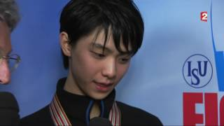 Yuzuru Hanyu French TV Interview  - World Figure Skating Championships 2017 羽生結弦