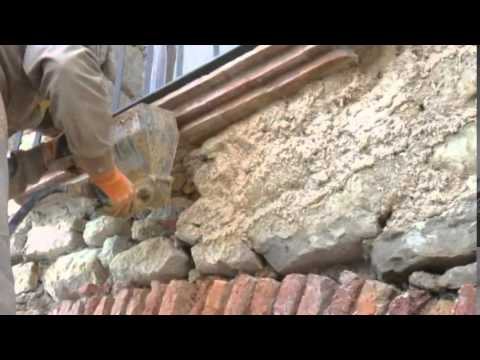 Gunitadora revocadora lanzadora de mortero para rejuntar muros de piedra youtube - Revestir pared exterior ...