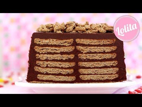Receta de tarta de galletas sin horno - Tarta de la abuela