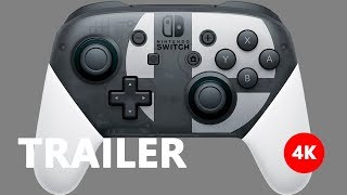 Nintendo Switch Pro Controller - Super Smash Bros. Ultimate edition Reveal 4K