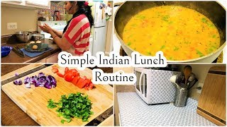 Indian NRI Lunch Routine ||  Simple Food || Kitchen Counter Makeover || Indian NRI mom || Hindi vlog