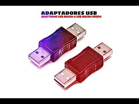 Video de Adaptador USB Macho a USB macho  Negro