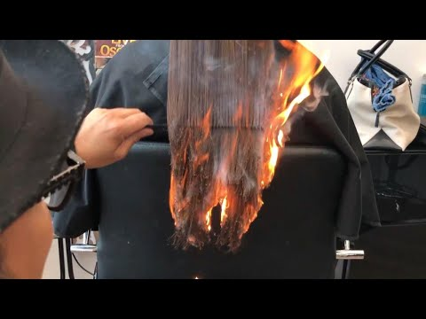 California Hair Stylist Sets Client's Hair on Fire to Get Rid of Split Ends Mp3