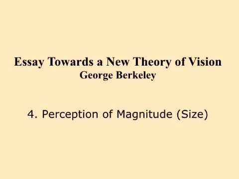 Theory of Vision George Berkeley 4 Perception of Magnitude