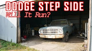 Barn Find 1979 Dodge D100 Step Side - Will It Run and Drive Home?