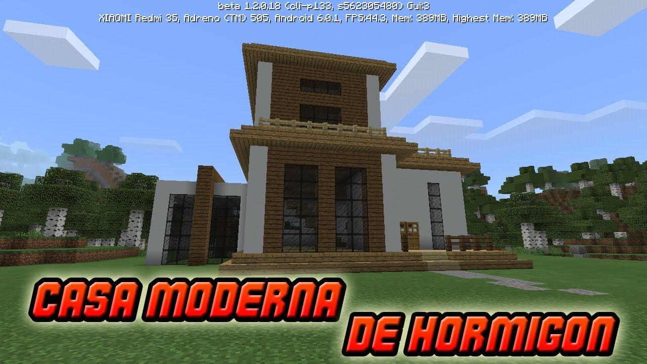 Como hacer una casa moderna de hormigon para survival en for Casa moderna hormigon