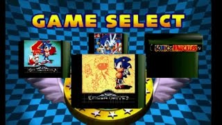 Sonic Jam [Sega Saturn] #2 - Game Menu (Sonic 1,2,3 & Knuckles)