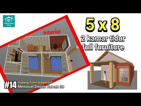 Desain Rumah Minimalis 2 Kamar Uk 5x8 Full Interior Design Part