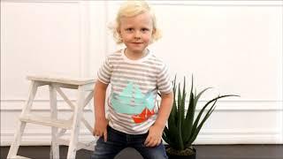 Полосатая футболка с корабликами для мальчика (14338) / Футболки для мальчиков / КотМарКот