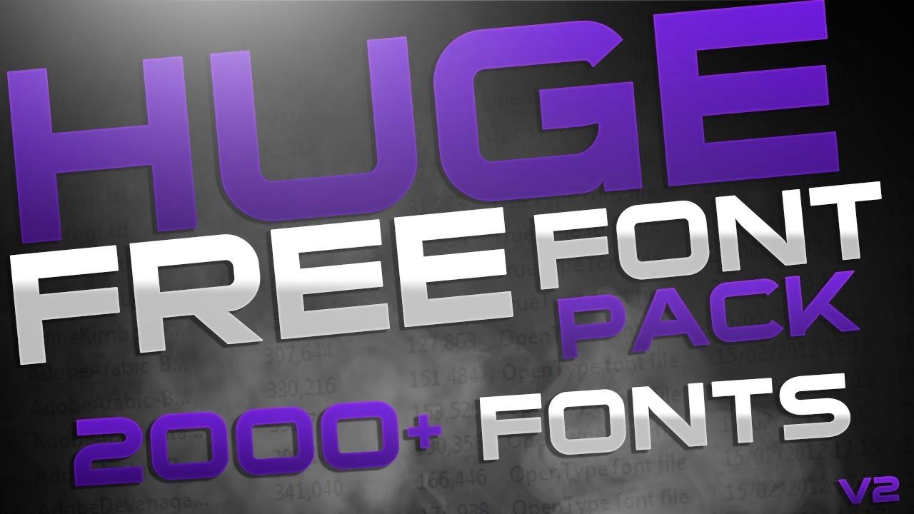 Download Huge Free Font Pack v2 - YouTube