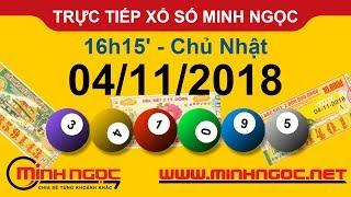 Xổ số Minh Ngọc™ Chủ Nhật 4/11/2018 - Kênh chính thức từ Minhngoc.net.vn