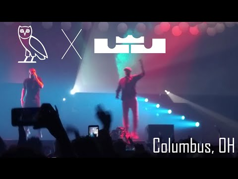 LeBron James performs POP STYLE with DRAKE in COLUMBUS