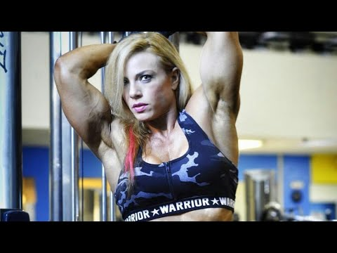 Dana Shemesh IFBB PEO FEMALE BODYBUILDING GYM WORKOUT