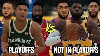 NBA Players That Made Playoffs vs Players That Didn't! | NBA 2K19