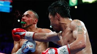 Manny Pacquiao vs. Keith Thurman AFTERMATH! PacMan CLIPS Keith's PONYTAIL!!