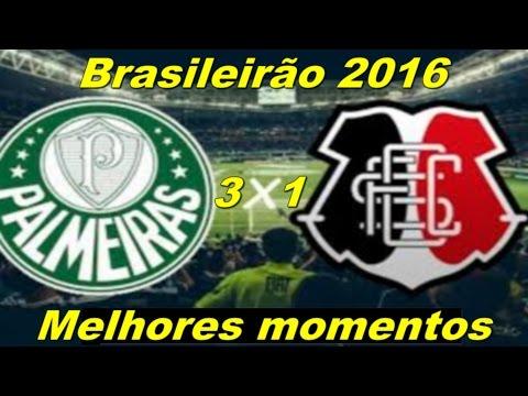 Palmeiras 3 x 1 Santa Cruz Melhores Momentos   Brasileirão 2016