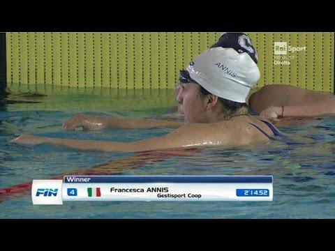 04-04-2017 pom. 200 Farfalla F Finale B Annis Francesca 2'14,52 Campionato Italiano Assoluto v.50