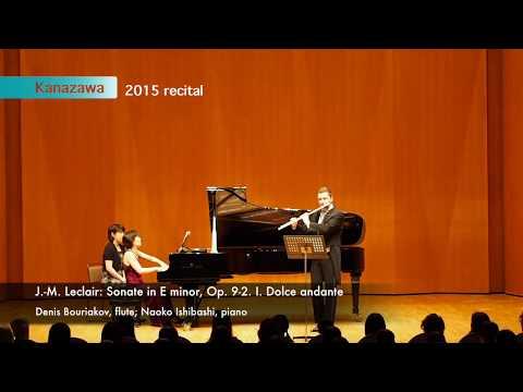 J. M. Leclair: Flute sonata in E minor, Op. 9, No. 2