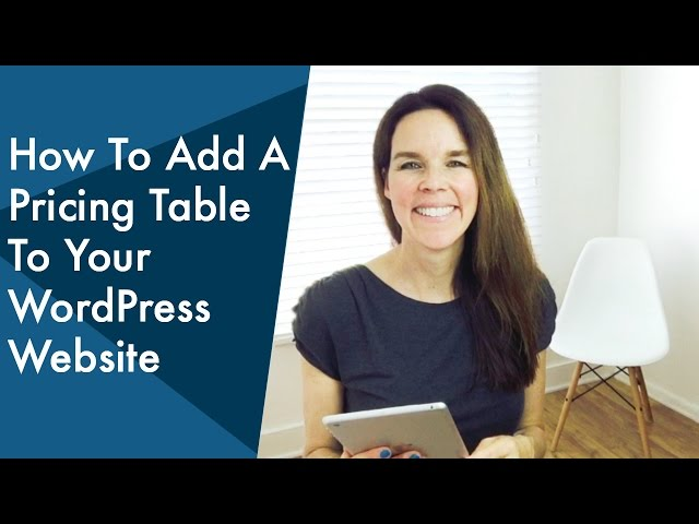 How To Add A Stylish Pricing Table To Your WordPress Website | YouTube Q&A