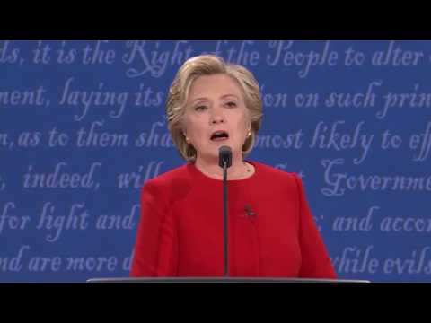 Pres. Debate - Hillary Clinton emails