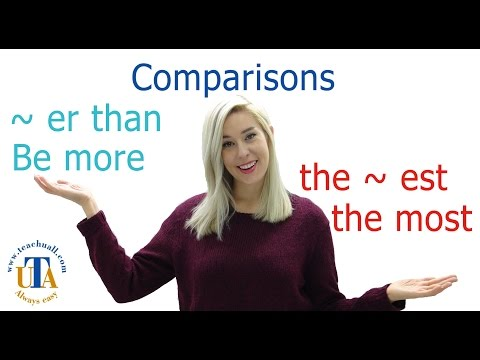 In English grammar How to make comparisons more the most er and the best English subtitles
