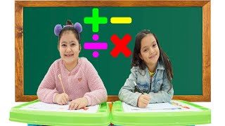 Masal and Öykü Learn Math & Numbers for the School Exam - Funny Kids