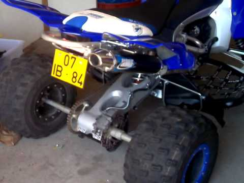 hmf competition series full exhaust on yamaha yfz r 450
