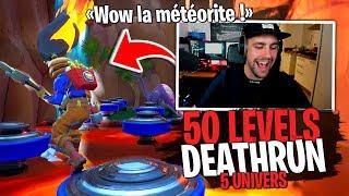 50 Levels Deathrun en 5 univers ! Du très lourd sur Fortnite Créatif