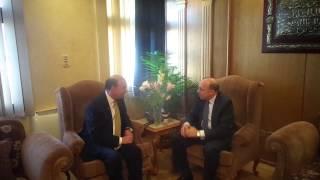 مميش يستقبل وزير الصحة قبل زيارة زيارة القناة الجديدة