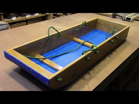 Easy Homemade Toboggan Sled