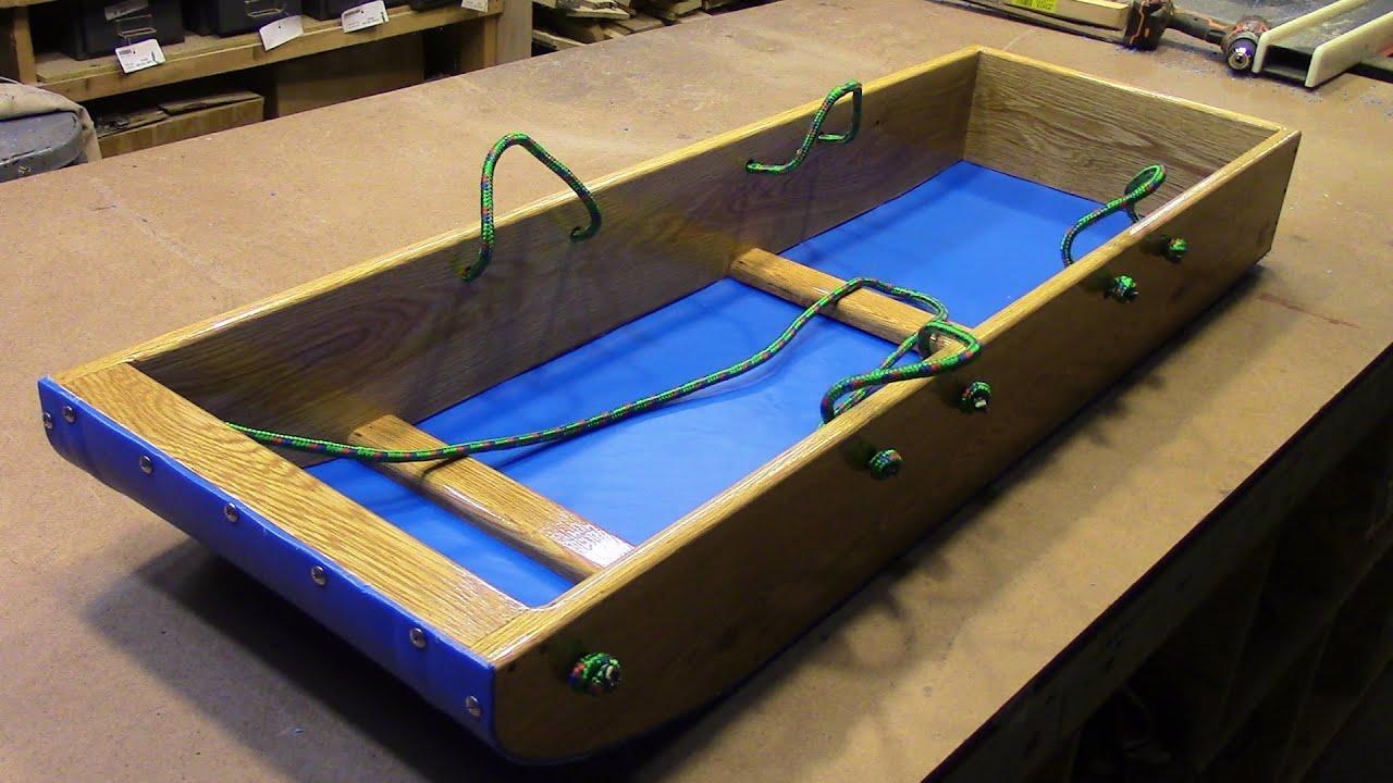 easy homemade toboggan sled youtube. Black Bedroom Furniture Sets. Home Design Ideas